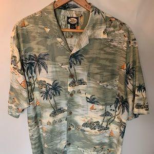 VTG Tommy Bahama Hawaiian SS Shirt Camp Aloha Med.
